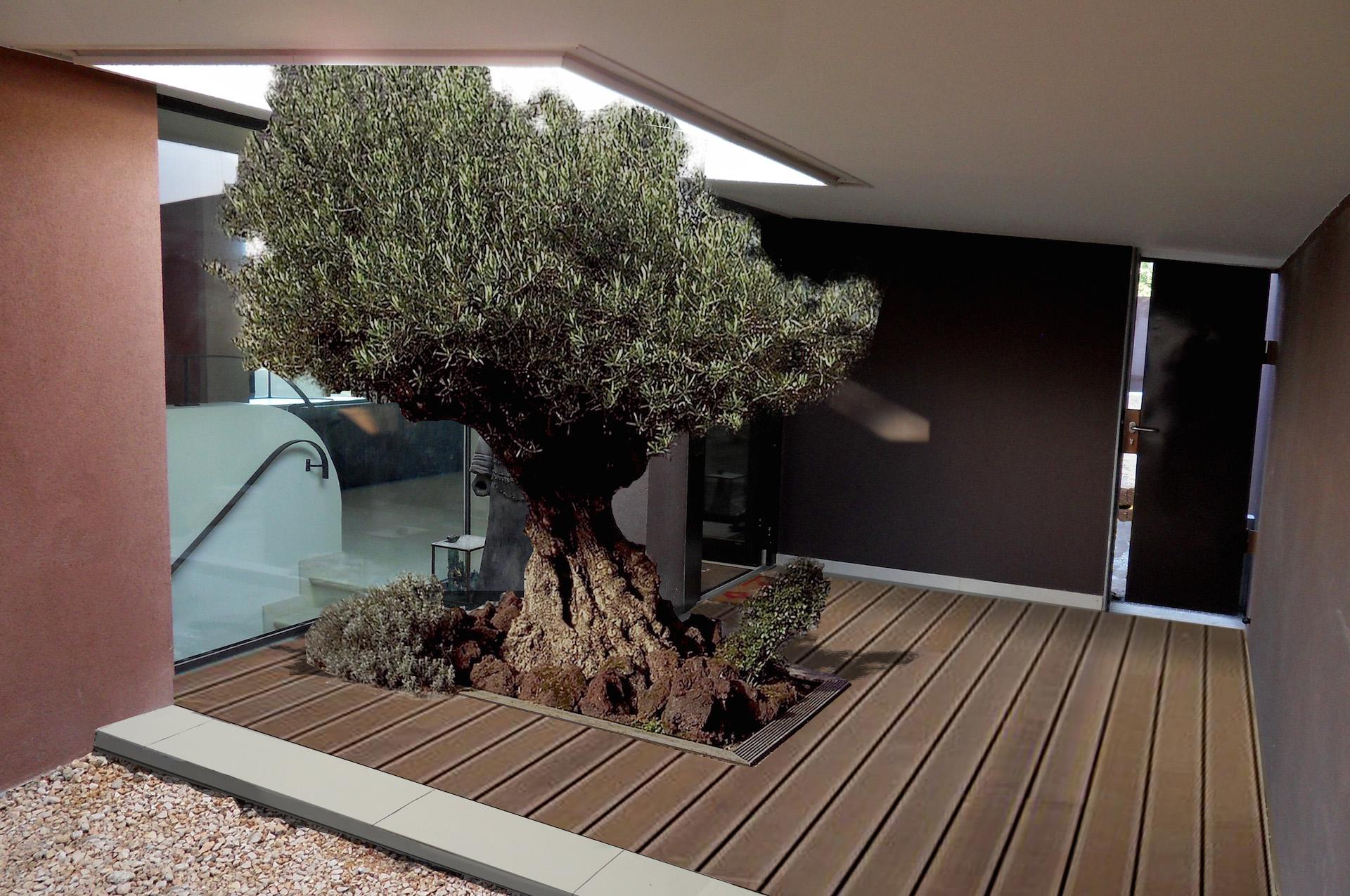 Architecte allauch construction d 39 une villa contemporaine - Luminaire entree maison ...