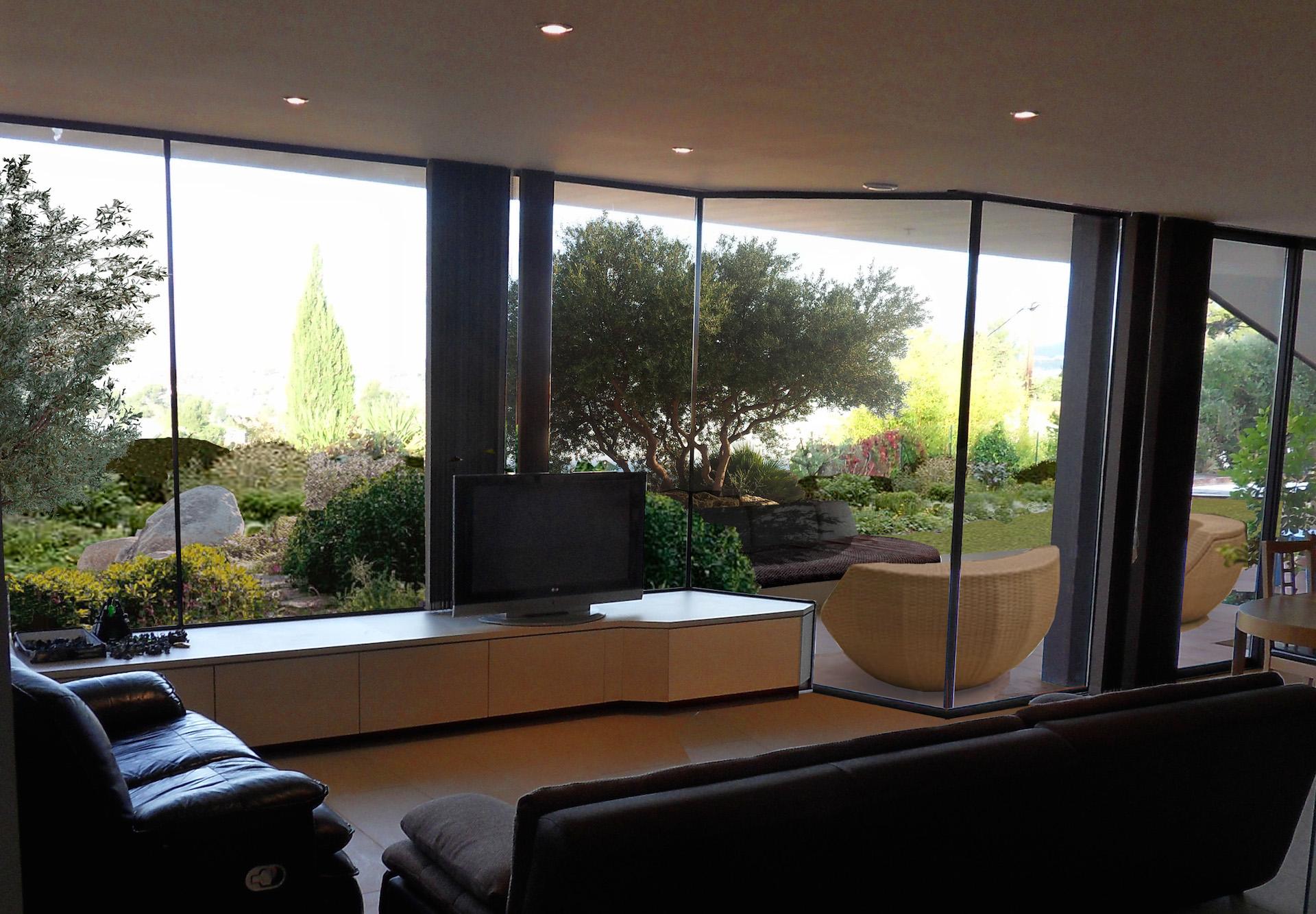 architecte allauch construction d 39 une villa contemporaine. Black Bedroom Furniture Sets. Home Design Ideas
