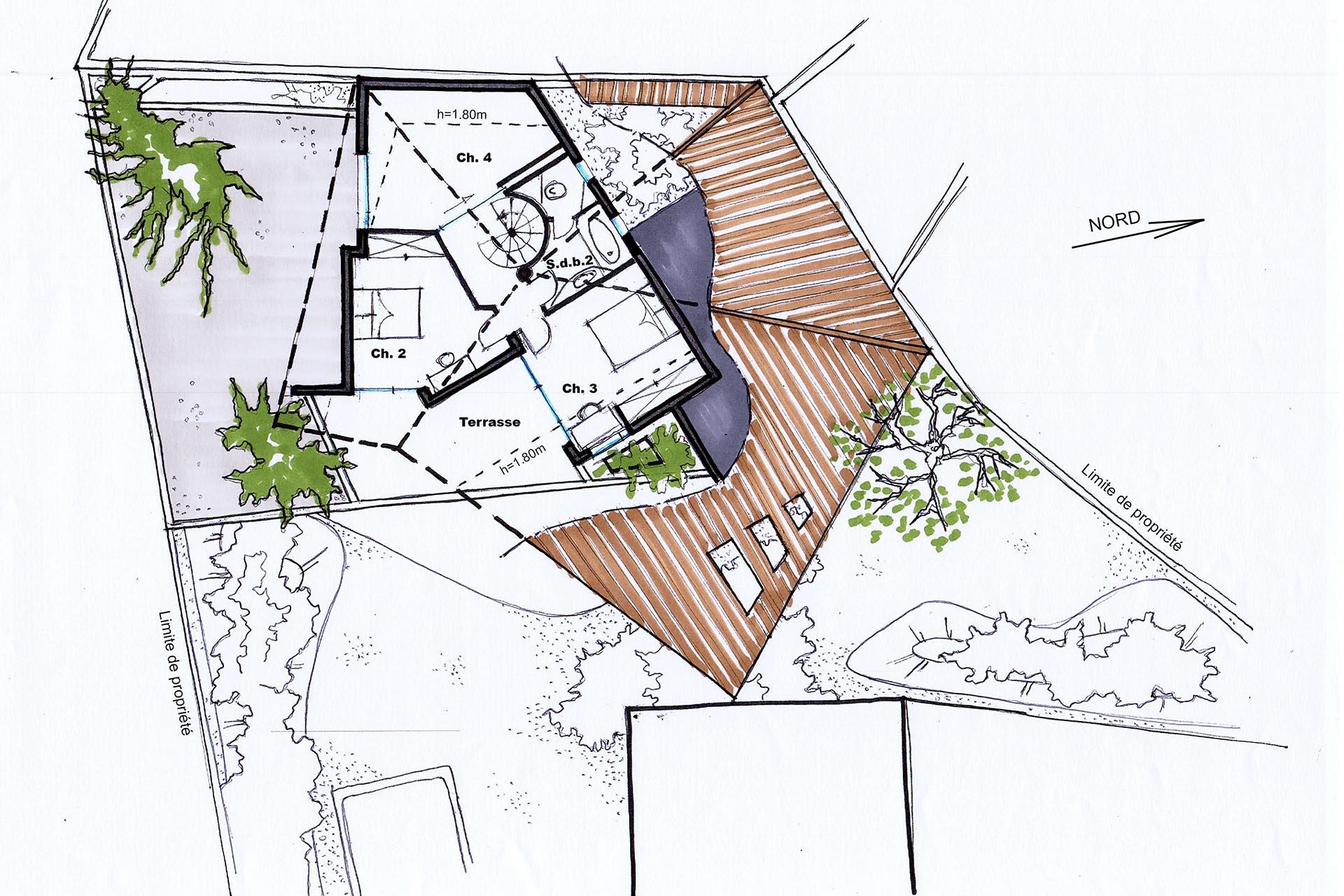 D coration jardin suspendu architecture 37 lyon for Architecture suspendue