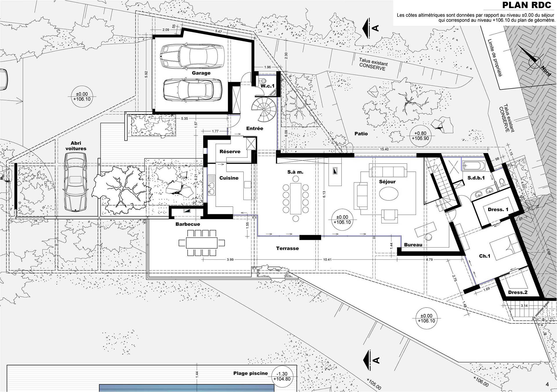 #486883 Architecte Gémenos Création D'une Maison 2899 plan architecture suite parentale 1920x1351 px @ aertt.com