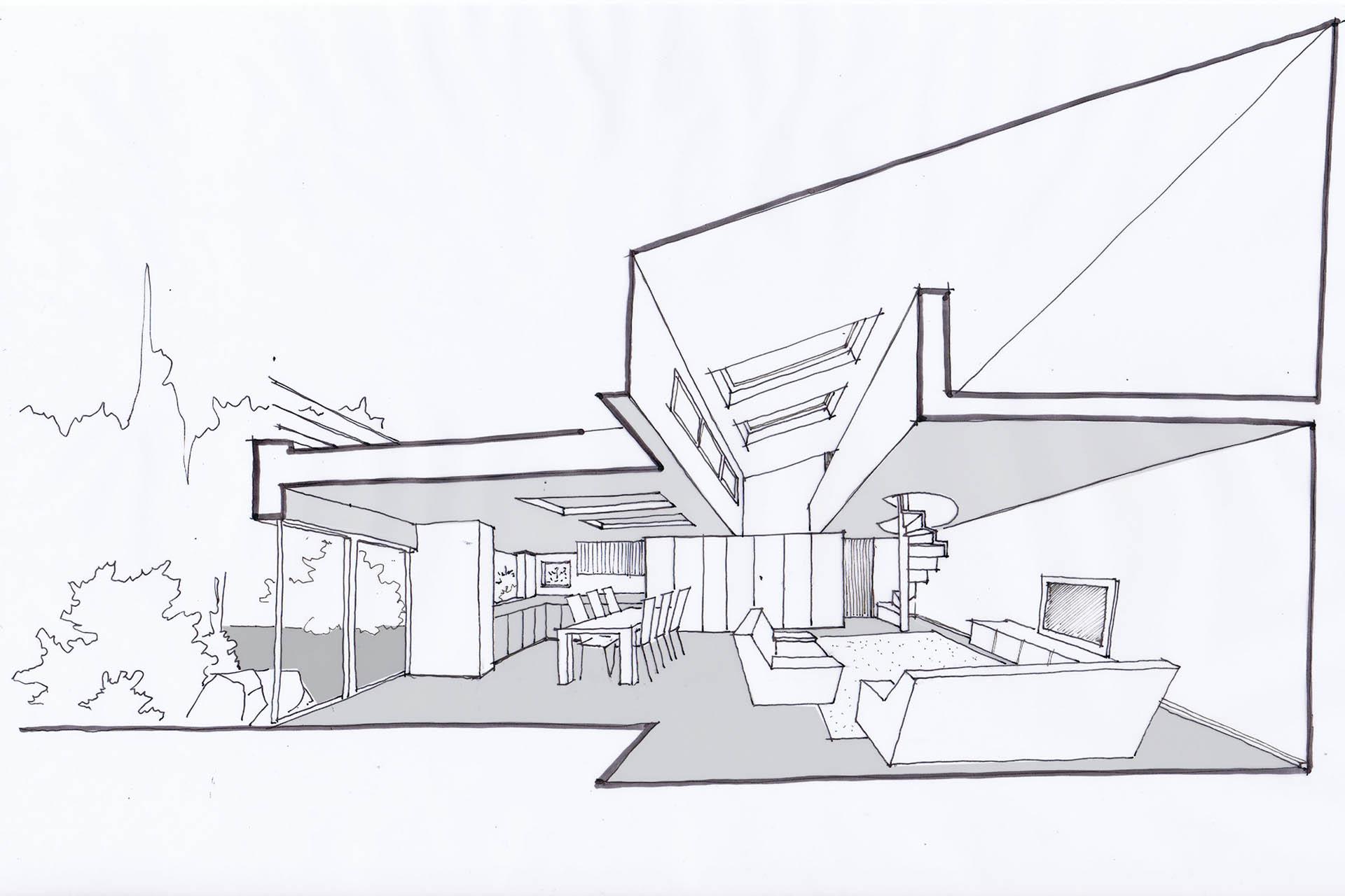interieur maison en perspective. Black Bedroom Furniture Sets. Home Design Ideas
