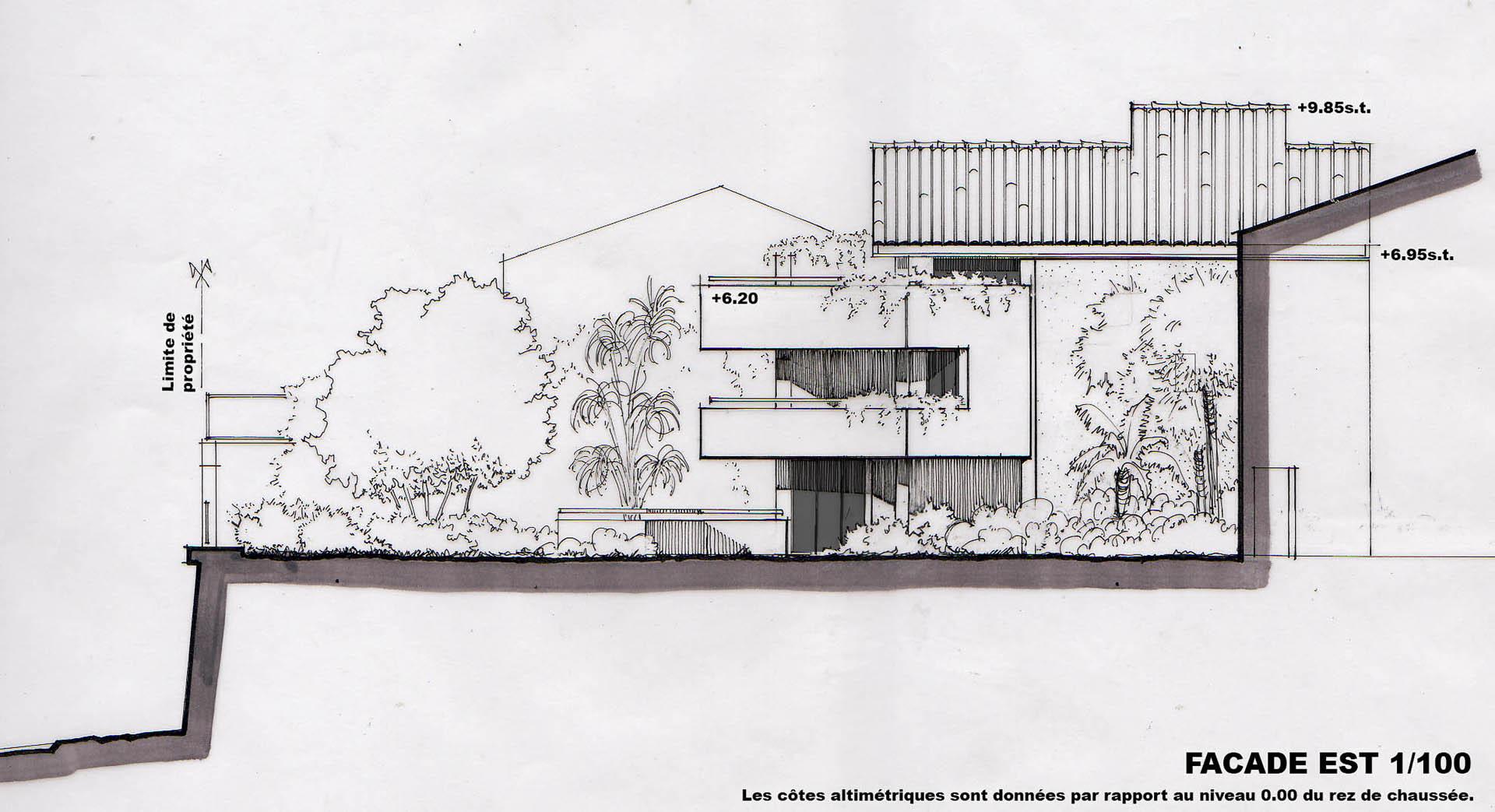 Une vue en plant d 39 une maison maison moderne for Plant d une maison