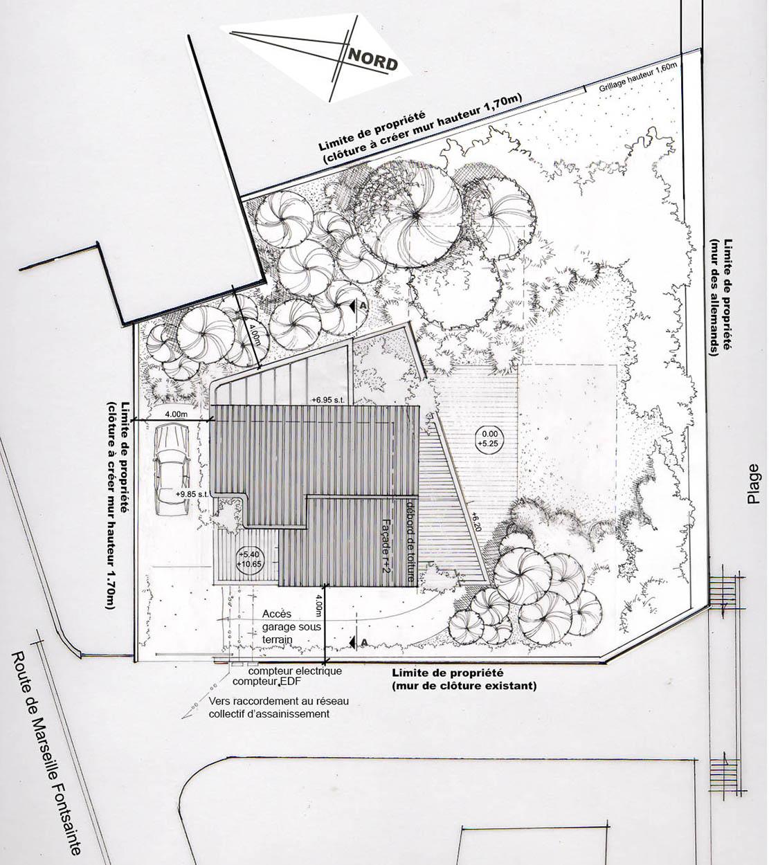 Architecte la ciotat cr ation d 39 une maison - Plan de masse d une maison ...