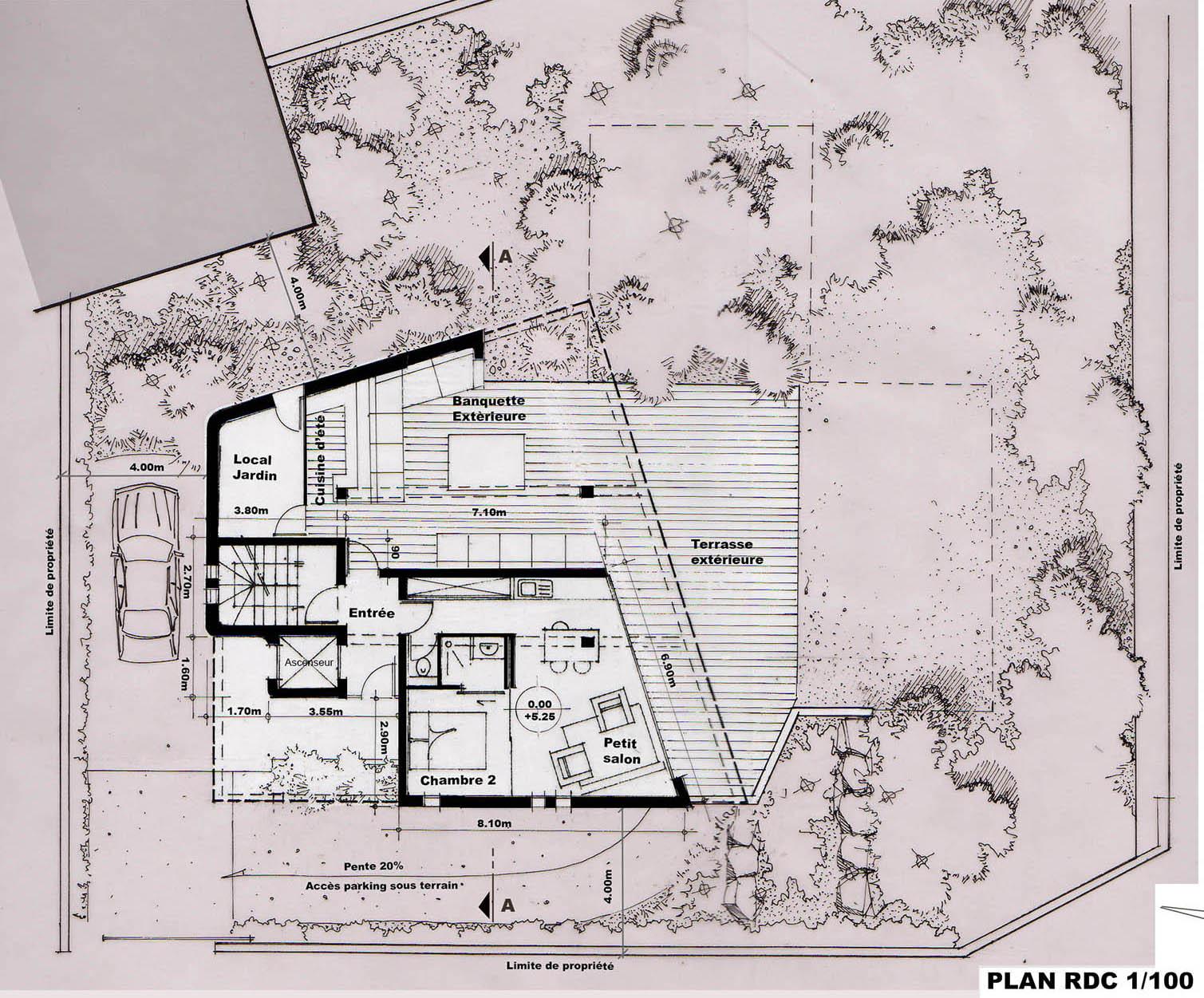 Architecte la ciotat cr ation d 39 une maison - Plan maison entree sud ...