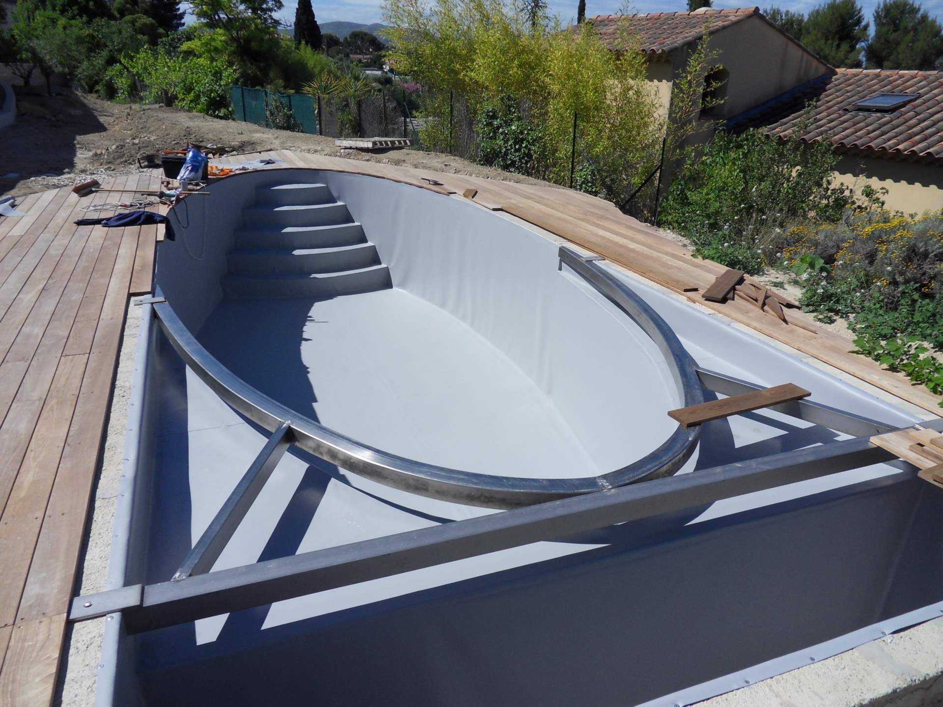 Chantier archives for Plancher piscine bois