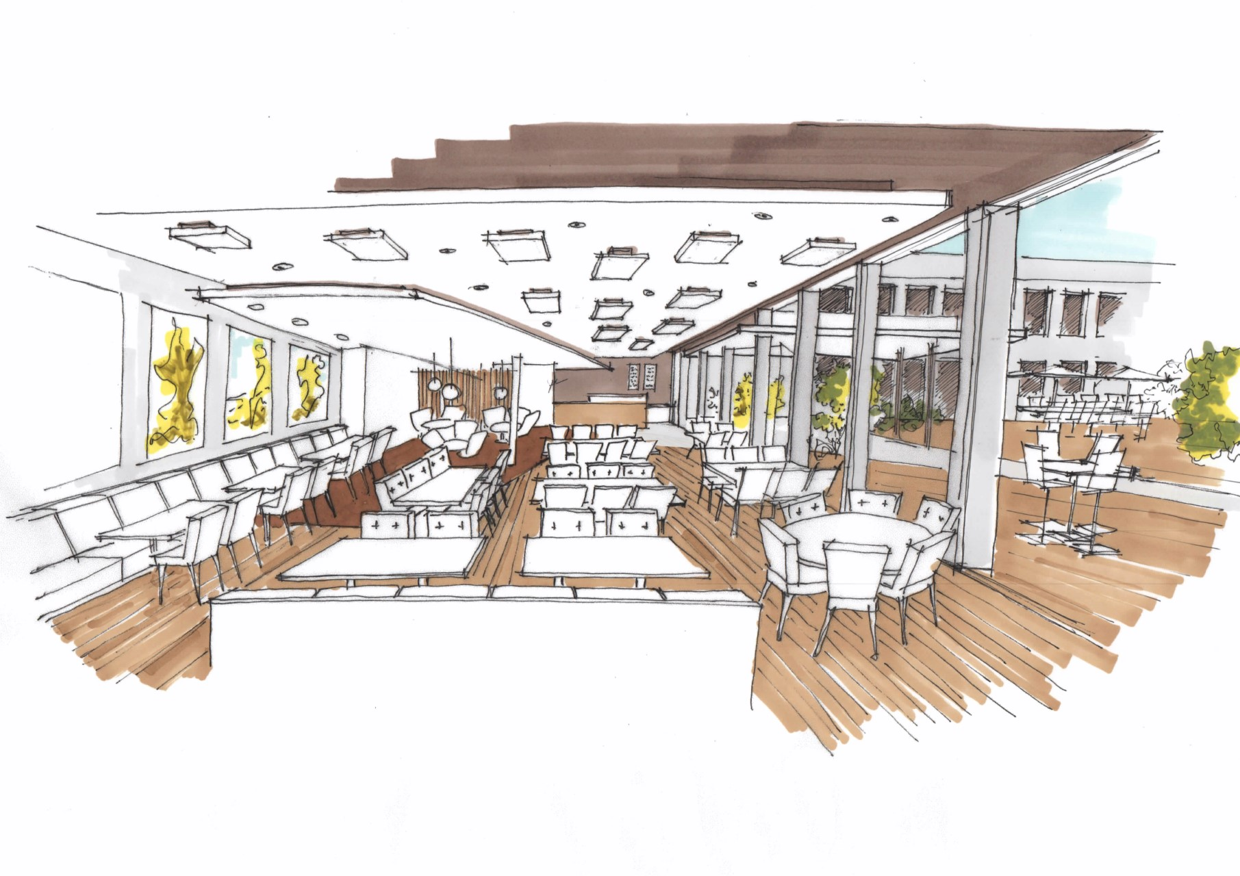 architecte am nagement d 39 une caf t ria marseille. Black Bedroom Furniture Sets. Home Design Ideas