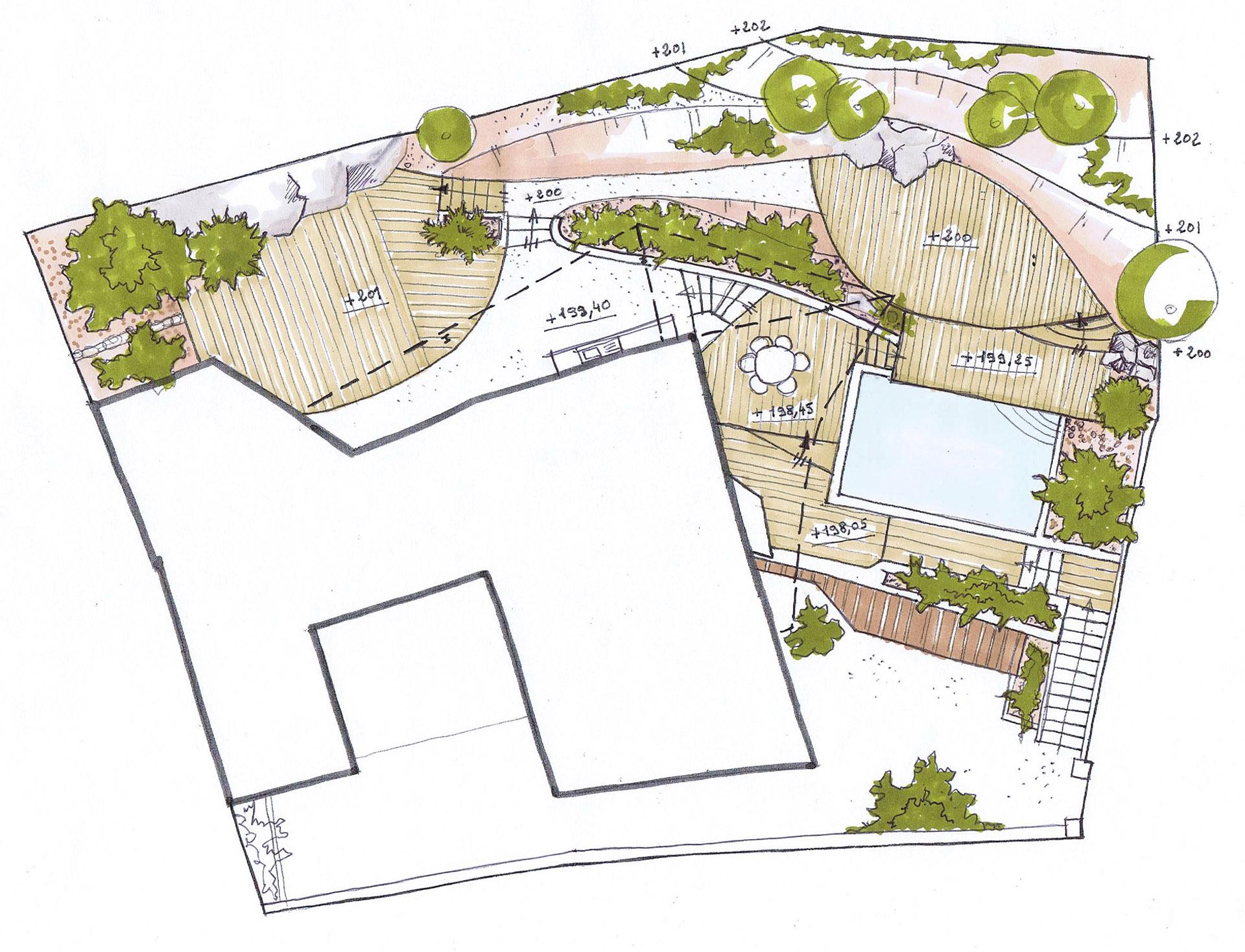 Architecte plan de cuques r novation extension d 39 une for Extension maison plan