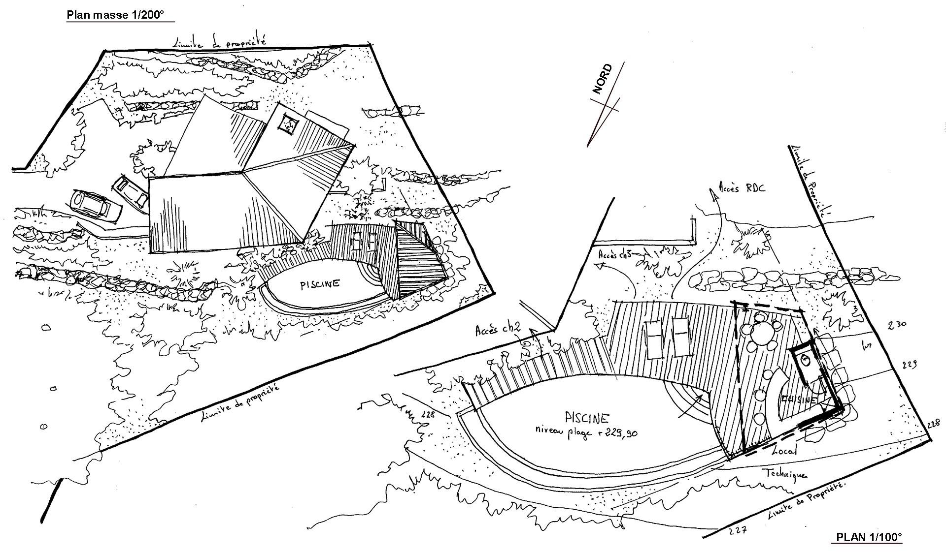 Construction d'une piscine à débordement à Plan de Cuques
