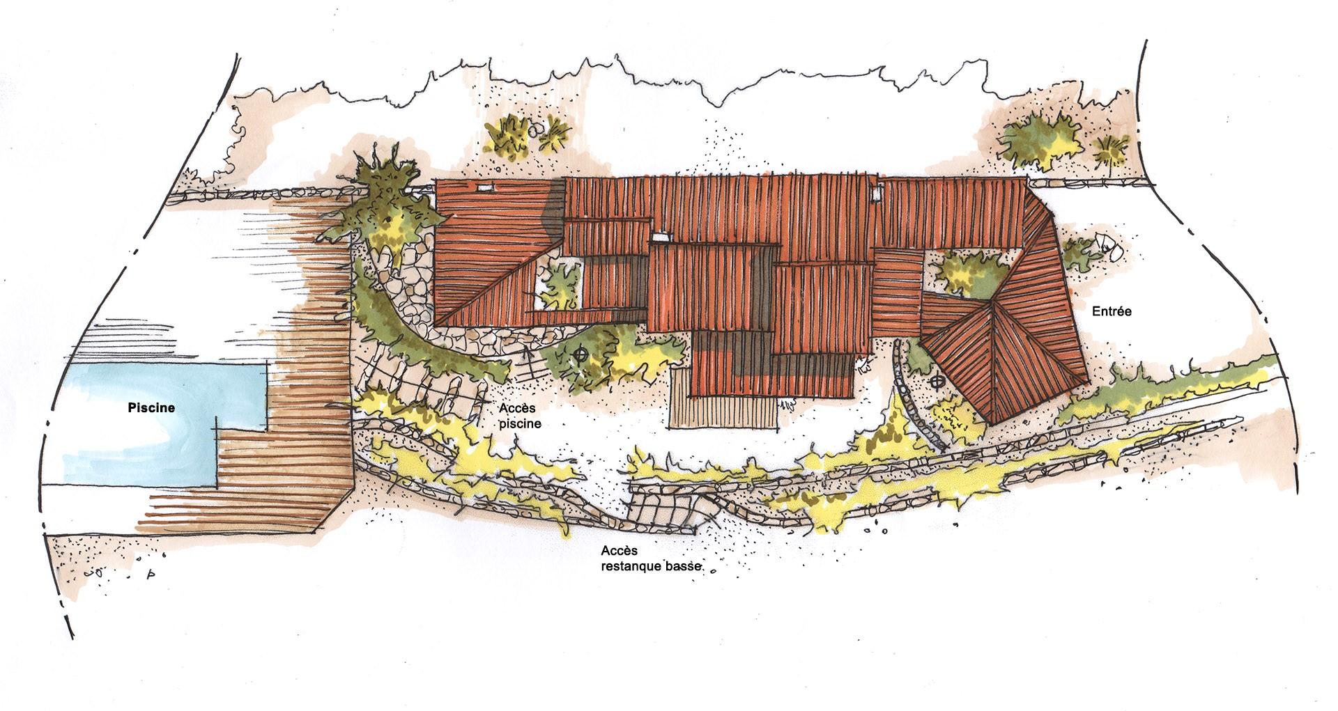 Extension Maison Terrasse Couverte architecte - extension rénovation d'une maison à gémenos